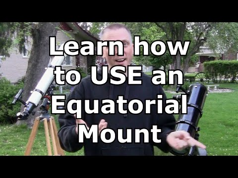 How to use an equatorial mount