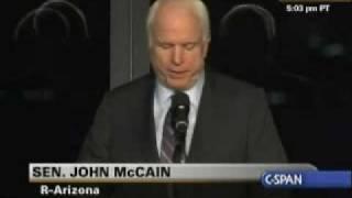 Edward Kennedy Memorial Service - Sen. John McCain