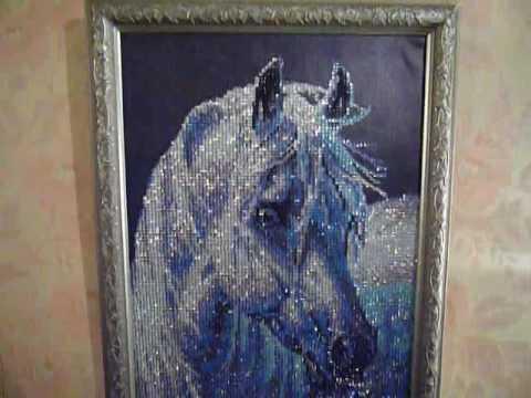 Алмазная вышивка лошадь готовая работа 6