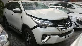 Toyota fortuner had an accident with a cow !!