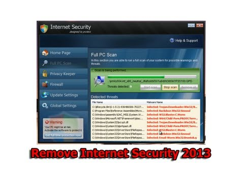 Remove Internet Security 2013