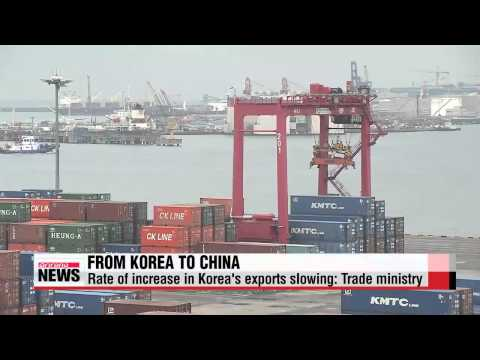 Slowing rate of Korean exports to China spurs calls for change