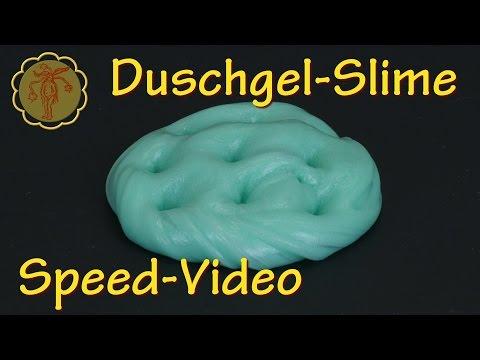 Speed-Video: Duschgel-Slime - DIY - ohne Waschmittel und ohne Boraxpulver