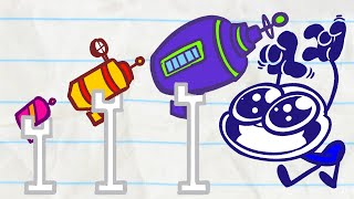 Pencilmate Gets ZAPPED By ALIENS! | Animated Cartoons Characters | Animated Short Films