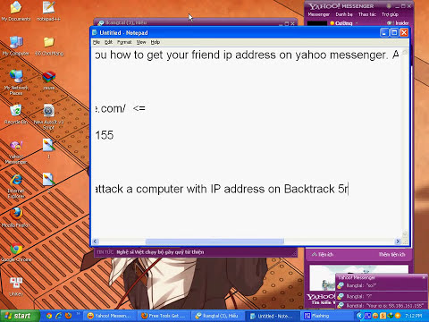Check IP address Your Friend On Yahoo Messenger.