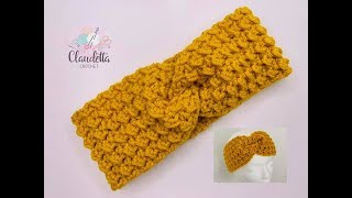 EASY CROCHET TWIST HEADBAND / GRIT STITCH