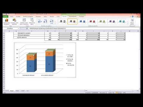 MS Excel 2010 - Gráficos: columna apilada con efecto 3D