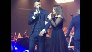 اصالة واحمد فهمي عيش سكر وطن من حفل في فندق الماسه بالقاهرة