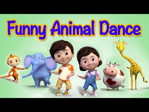 Funny Animals Dance Video for Children | kids rhymes | children rhymes thumbnail