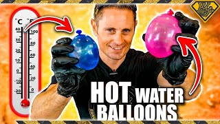 Do Hot Water Balloons Explode in a Vacuum Chamber?