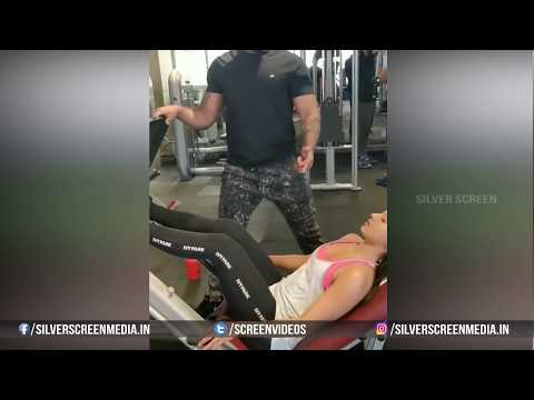 Catherine Tresa Workout at Gym  Video Leaked  Fitness Workout