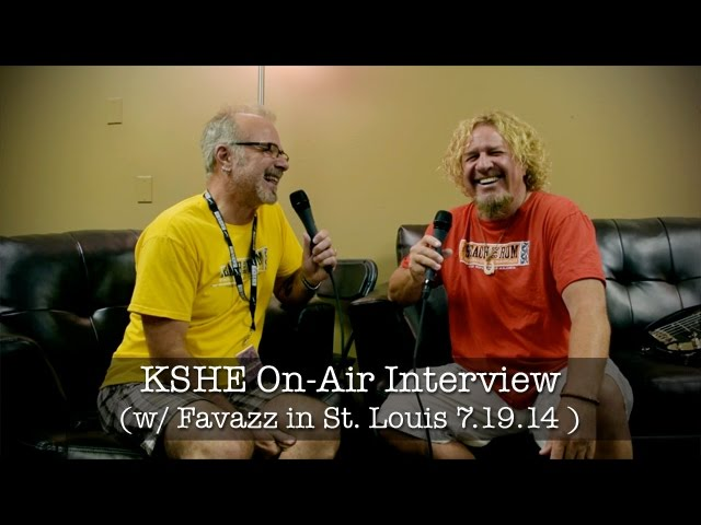 Sammy Hagar St. Louis KSHE Interview - July 19, 2014