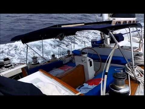"Sailing ""Oasis"" single-handed from Antigua to Dominica May 2014"