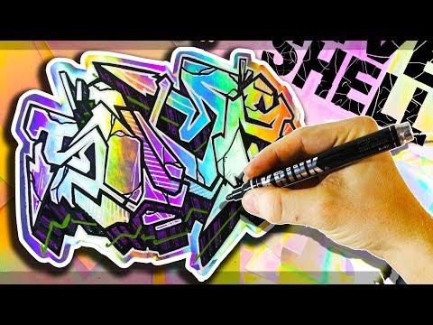 Holographic SIVE SHELL Graffiti Stickers