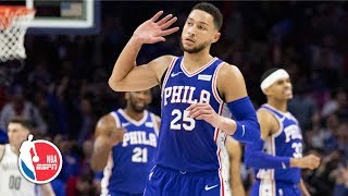 Ben Simmons gets triple-double, 76ers tie playoff record with 51 points in quarter | NBA Highlights