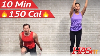 10 Minute Workout : HIIT Home Cardio Workout Without Equipment - HIIT Workout No Equipment at Home