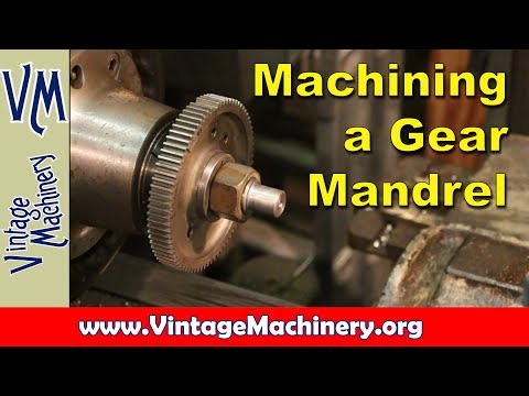 Broken Gear Repair:  Machining a Custom Mandrel to Hold the Gear