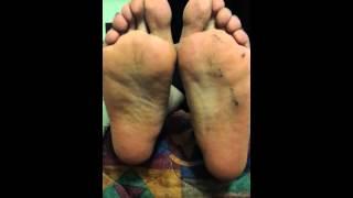 Dirty stinky sweaty ebony soles