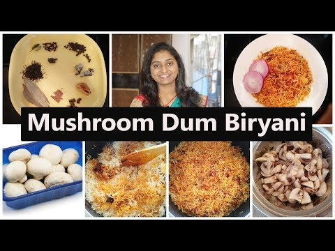 How To Make Mushroom Dum Biryani In Telugu | Mushroom Dum Biryani Restaurant Style |Telugu Vlogs