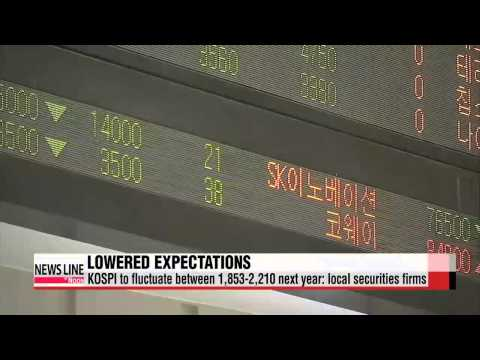Local securities firms lowering projections on Korean shares for next year   ′장밋