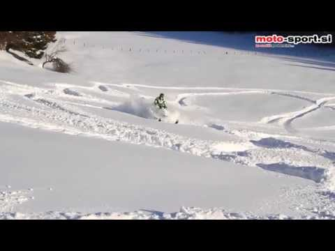 Arctic cat proclimb 1100 turbo HCR in deep snow