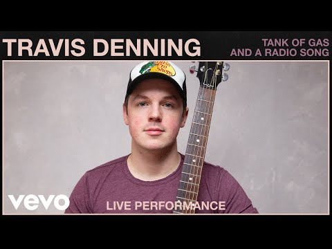 Travis Denning - Tank of Gas And A Radio Song (Live Performance) | Vevo
