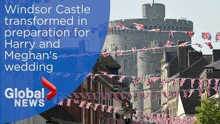 Royal Wedding: Windsor transformed to host 100,000 Harry and Meghan fans