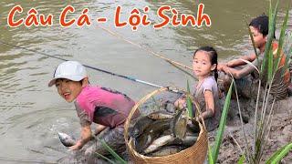 Stin Dâu Làm Cần Câu Đi Câu Cá Và Thưởng Thức Cá Nướng Miệt Vườn (^_^)