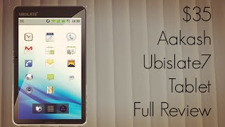 $35 Aakash Ubislate7 Tablet Full Review with Features Apps Demo - Bad & Good about it