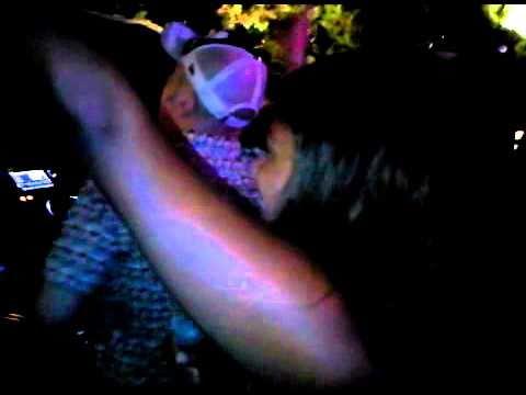 Jennifer Cooke mcing/ singing at Blue Marlin Ibiza