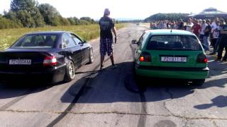audi a4 v6 2.8 quattro vs golf 3 1.8t