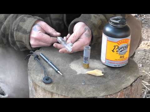 Reloading 12GA with (Pyrodex) Black Powder in the Field