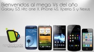 Mega vs de Galaxy S3, HTC one X, Iphone 4S, Sony Xperia S y Galaxy Nexus