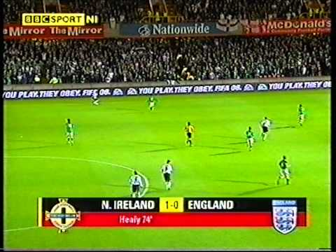 Northern Ireland 1 - 0 England - David Healy's goal.