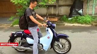 Test ride Honda Super Cub open seat test exhaust sound