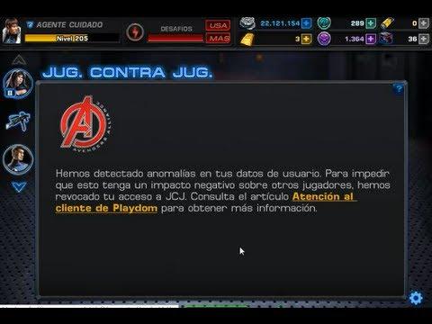 Porque no es bueno hacer trampa o usar hacks en Marvel Avengers Alliance