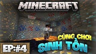 KIM CƯƠNG!! Chuyến mine thành công nhất ! - Minecraft Sinh Tồn Win10 [Tập:#4]