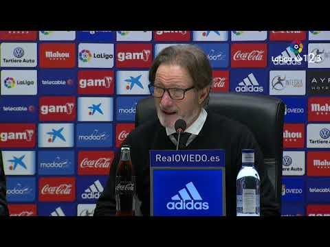 Rueda de prensa de Juan Antonio Anquela tras el Real Oviedo vs CD Tenerife (1-0)