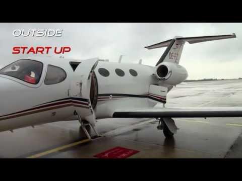 Cessna Citation Mustang - Geneva to Liege - Outside, Cockpit, ATC
