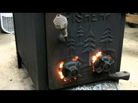 YouTube - DIY gravity feed rocket stove - burning wood pellets