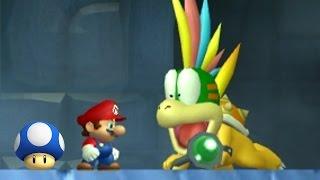 New Super Mario Bros Wii - All Bosses with Mini Mushrooms