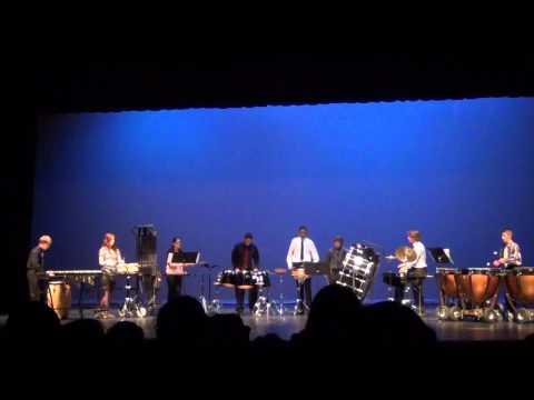 """Lake Dallas High School Percussion Concert 2012 """"Stormbreak"""" by Jim Casella"""
