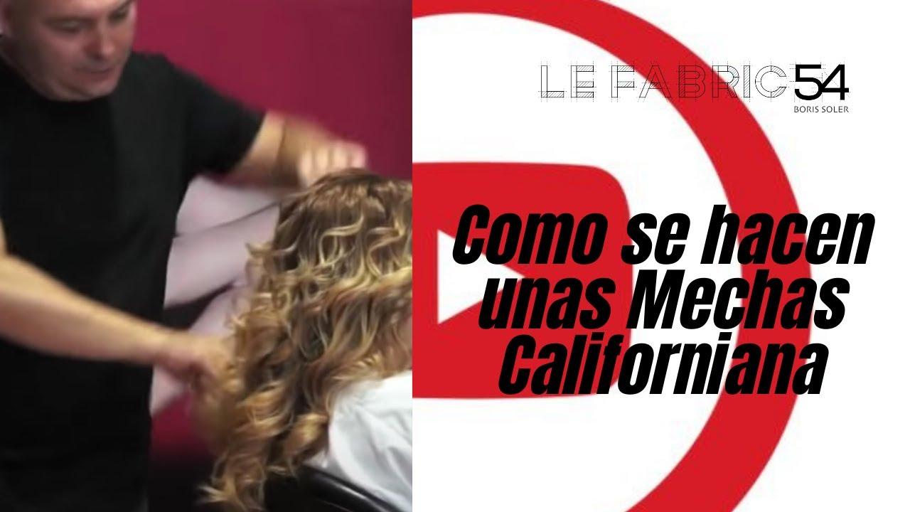 Como se hacen unas Mechas Californiana - YouTube