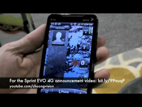 HTC EVO 4G Hands On!