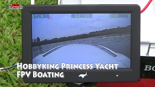 Hobbyking Princess Brushless V-Hull R/C Boat (1000mm) RC FPV Boating