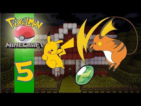 Pixelmon Adventures in Kanto: Episode 5 - Huh Pikachu Is Evolving? (MineCraft Mod)