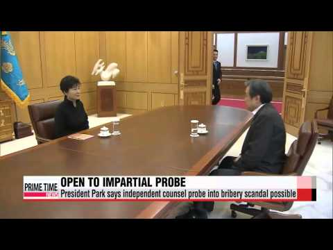 President Park Geun-hye says independent counsel an option for bribery scandal