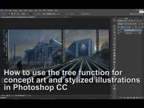 Tree function for concept art and stylized illustrations in Photoshop CC
