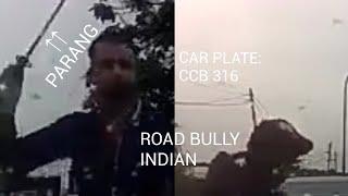 Blue Honda Civic Indian driver road bully with Parang. (CCB 316)