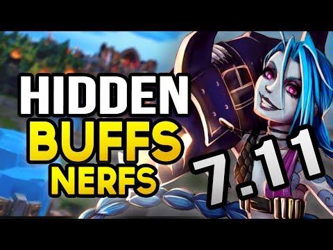 HIDDEN BUFFS & NERFS in Patch 7.11 (League of Legends)